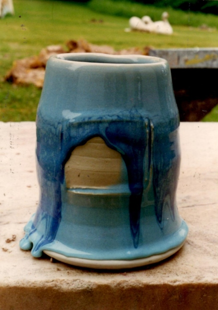 High Gas Fire Porcelain Vessel with Celadon