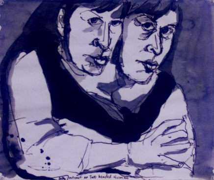 Self Portrait with Two Heads