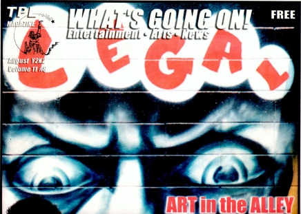 """Art in the Alley"" Photo and Cover Story on Legal Graffiti for TPL"